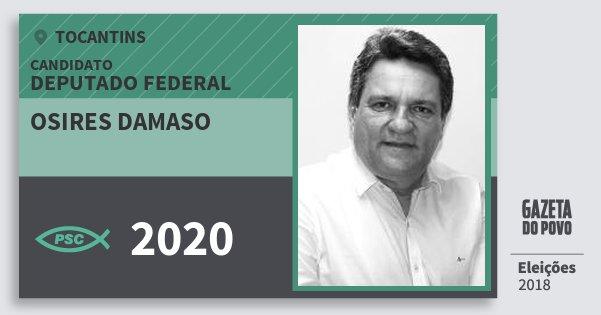 Santinho Osires Damaso 2020 (PSC) Deputado Federal | Tocantins | Eleições 2018