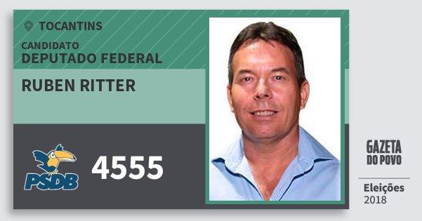 Santinho Ruben Ritter 4555 (PSDB) Deputado Federal | Tocantins | Eleições 2018