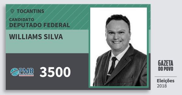 Santinho Williams Silva 3500 (PMB) Deputado Federal | Tocantins | Eleições 2018