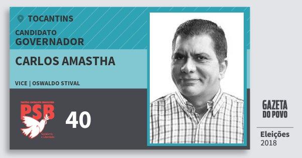 Santinho Carlos Amastha 40 (PSB) Governador | Tocantins | Eleições 2018