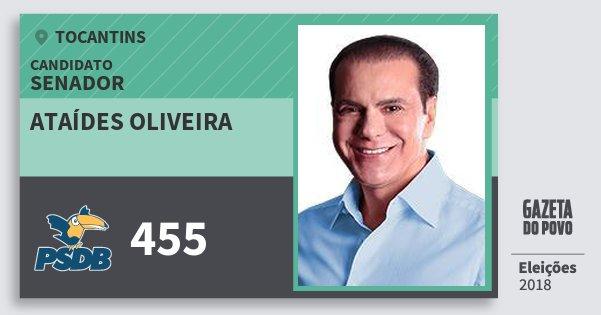 Santinho Ataídes Oliveira 455 (PSDB) Senador | Tocantins | Eleições 2018