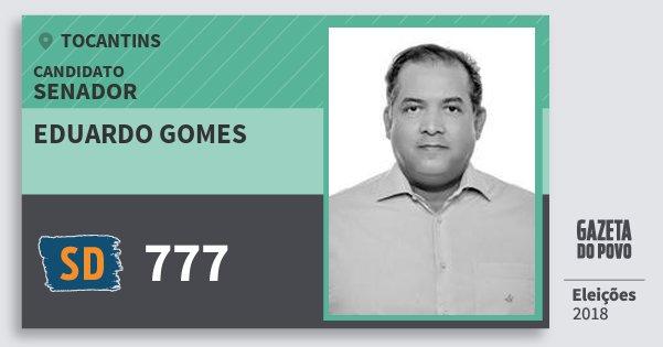 Santinho Eduardo Gomes 777 (SOLIDARIEDADE) Senador | Tocantins | Eleições 2018