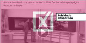 Aluna foi expulsa de sala de aula por usar celular e não por apoiar Bolsonaro