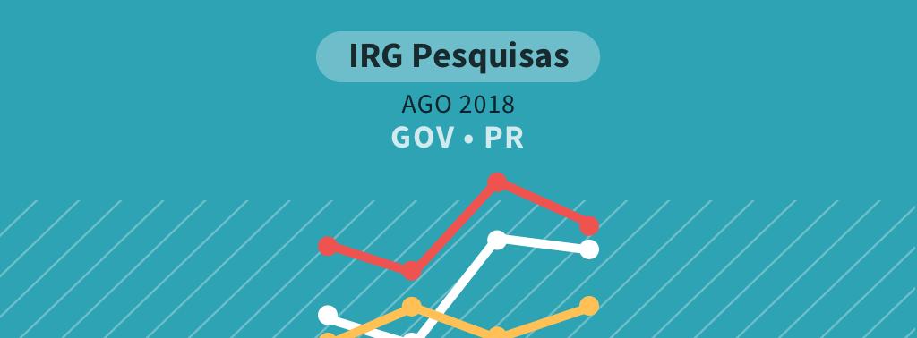 Pesquisa para governador do Paraná: Ratinho lidera, à frente de Cida Borghetti