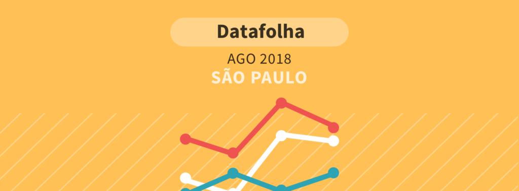 Datafolha para presidente em São Paulo: Bolsonaro e Alckmin em empate técnico na liderança