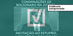 Montagem de vídeo que lista condenações de Jair Bolsonaro usa trechos verdadeiros