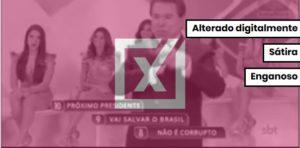 Quadro de Programa Silvio Santos foi alterado para simular apoio a Bolsonaro