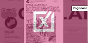 """Imagem de Marina Silva """"invadindo fazenda"""" é, na verdade, de ato contra desmatamento"""