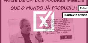 Montagem distorce declaração de Lula sobre maioridade penal