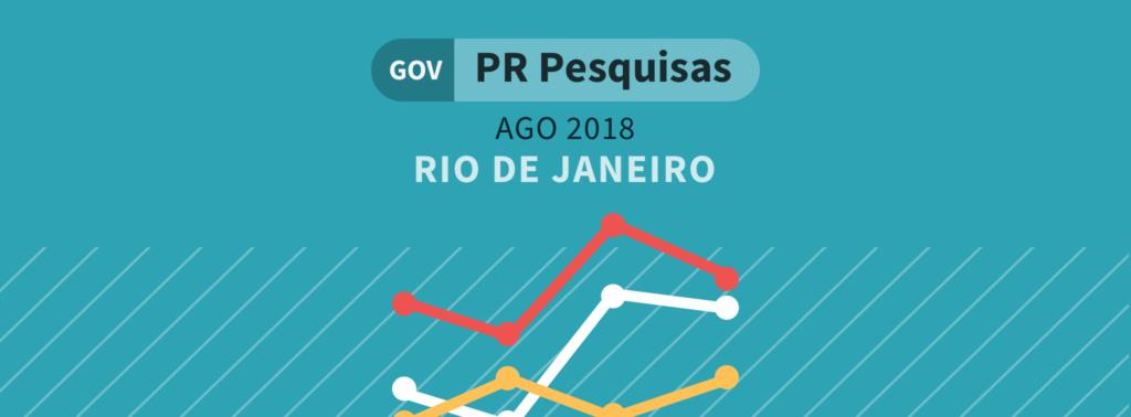 Disputa pelo governo do Rio de Janeiro tem empate triplo, aponta Paraná Pesquisas