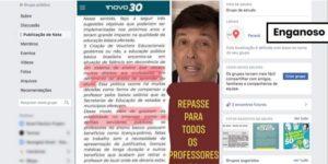 Críticas aos direitos dos professores não foram feitas por João Amoêdo