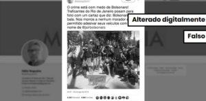 Foto de homens armados com cartaz de Bolsonaro é montagem