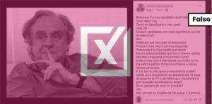 Texto de apoio a Jair Bolsonaro não é de Arnaldo Jabor