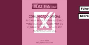Rede de lojas diz que comunicado sobre venda a prazo a eleitores de Ciro Gomes é falso