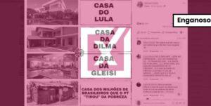 Não há evidência de que casa que aparece em meme seja de Lula