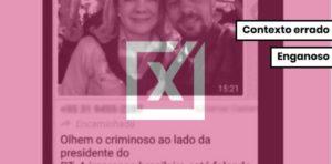Homem em foto com Gleisi Hoffmann não é o agressor de Bolsonaro