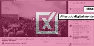 Vídeo de 2015 foi editado para parecer manifestação de apoio a Bolsonaro na Esplanada dos Ministérios