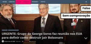Evento nos EUA é um debate sobre o cenário eleitoral brasileiro e não é organizado por George Soros