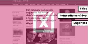 Códigos de urnas eletrônicas não foram entregues a venezuelanos