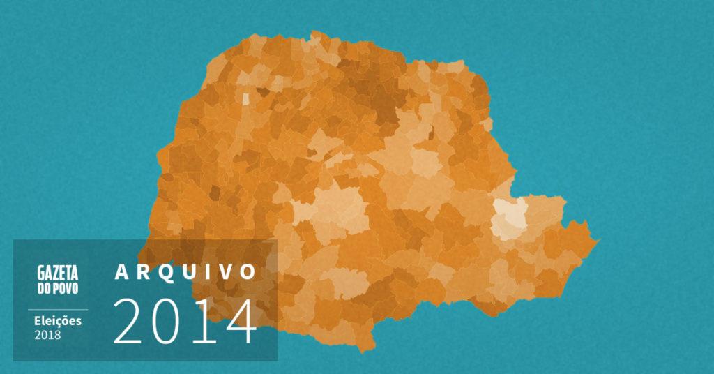 Reveja a votação que reelegeu Beto Richa governador do PR em 2014