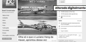 Imagens de caminhão e aeronaves com banners de Bolsonaro são simulações