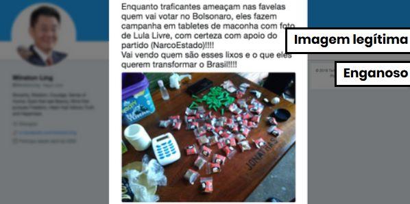e268381c594fb Foto de maconha embalada com imagem de Lula é verdadeira