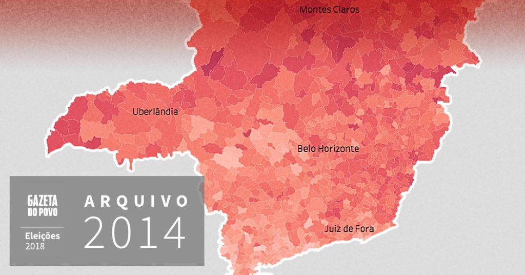 Reveja a votação para governador de Minas Gerais em 2014