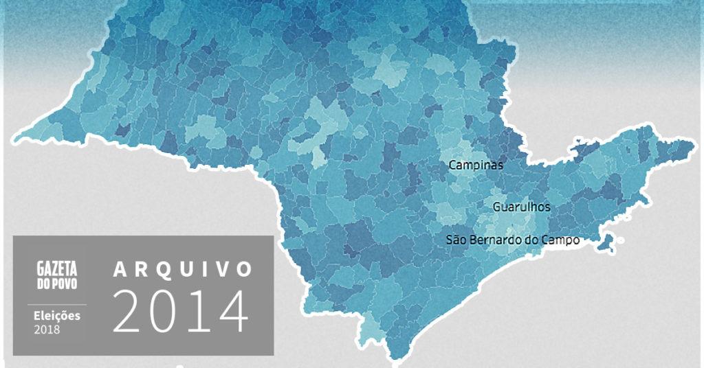 Reveja a votação para governador de São Paulo em 2014