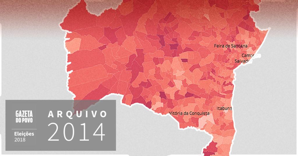 Reveja a votação para governador da Bahia em 2014