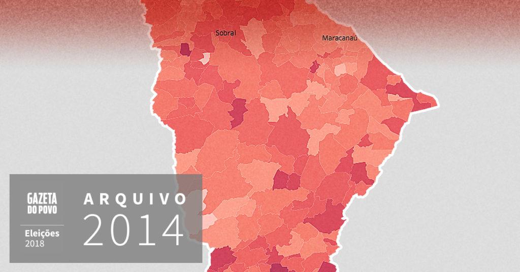 Reveja a votação para governador do Ceará em 2014