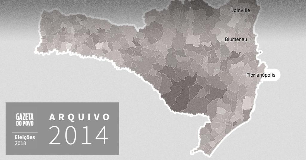 Reveja a votação para governador de Santa Catarina em 2014