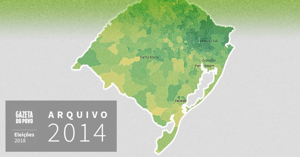 Reveja a votação para governador do Rio Grande do Sul em 2014
