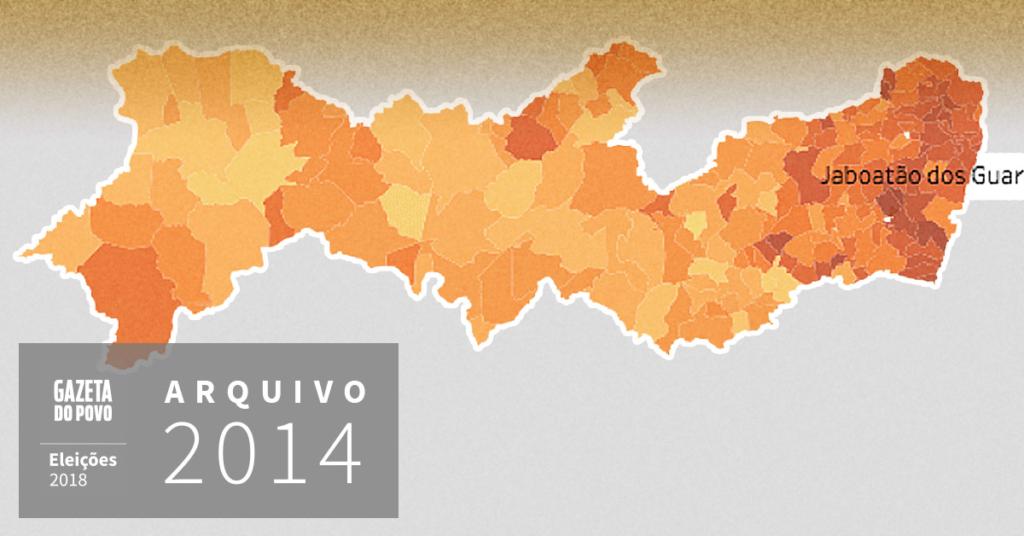 Reveja a votação para governador de Pernambuco em 2014
