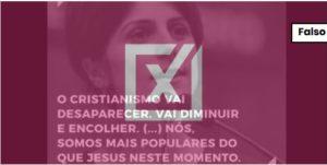 Frase sobre fim do cristianismo é de John Lennon, e não de Manuela D'Ávila