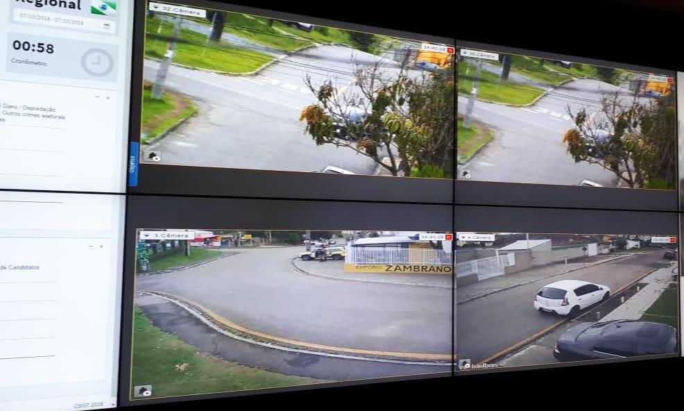 Câmeras monitoram movimento no acampamento Marisa Leticia
