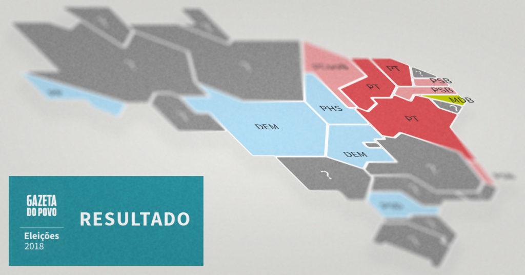 Mapa dos governadores eleitos e onde vai ter segundo turno