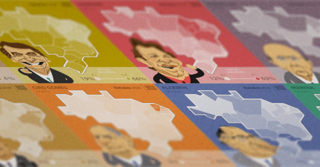 Mapa dos candidatos a presidente