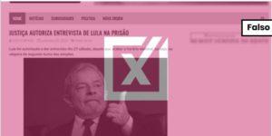 Lula não foi autorizado a dar entrevista antes do segundo turno