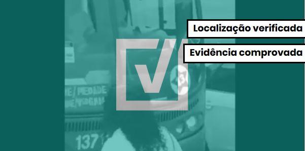 Vídeo que mostra ônibus de Salvador com adesivos do PT é verdadeiro