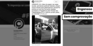 Não há evidência de que funcionários usaram veículo oficial em campanha de Haddad
