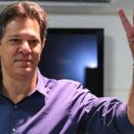 Fernando Haddad vota em São Paulo. Foto: NELSON ALMEIDA / AFP