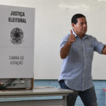 General Hamilton Mourão vota em Brasília. Foto: Evaristo Sá/AFP