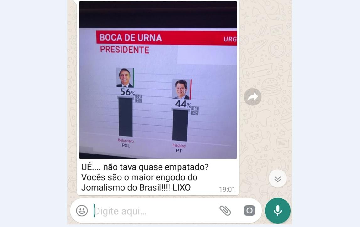 """Assessor de Bolsonaro na Câmara chama jornalistas de """"engodo"""" e """"lixo"""""""